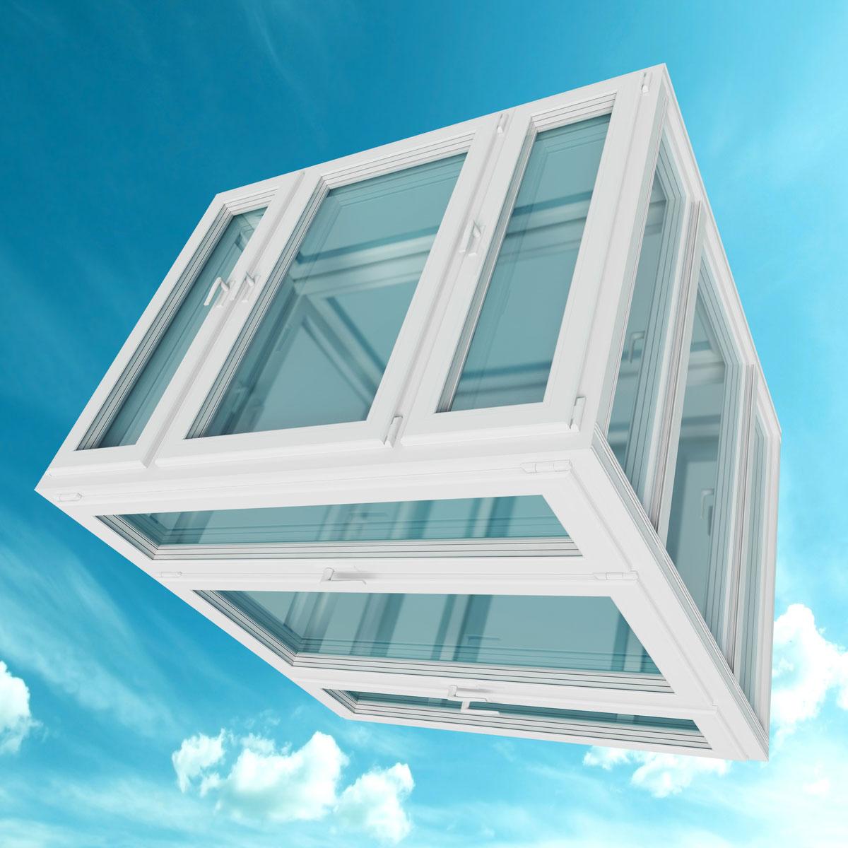 cube fenêtre ciel